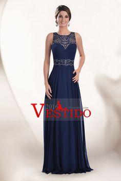 2016 Abiertos atractivos detrás de vestidos de baile de la cucharada de la gasa con rebordear el tren de barrido