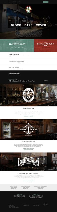One pager for O'Daly's Irish Pub with a solid responsive adaption and built on WordPress. Lovely touch with the weekdays turning into buttons with just the first letters on smaller screens. Also massive respect for the sticky footer link on mobile to call a cab. Happy St. Patricks Day folks!