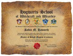 hogwarts certificate template - harry potter hogwarts certificate diploma report card