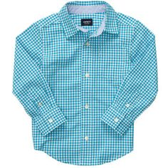 Plaid Button-Front Shirt.....Momma loves plaid