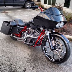 """2011 Road Glide """" The Sentinal """" with raked 23 and Renegade Wheels Racine Harley Bagger, Bagger Motorcycle, Harley Bikes, Harley Road Glide, Harley Davidson Road Glide, Harley Davidson Motorcycles, Custom Harleys, Custom Bikes, Custom Baggers"""