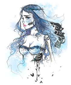 Check it and Wear it ! Emily Corpse Bride, Nerd Art, Jack And Sally, Tim Burton, Nightmare Before Christmas, Drawings, Disney, Anime, Tattoos