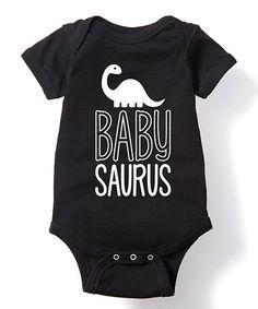 Black 'Babysaurus' Bodysuit - Infant #zulily #zulilyfinds
