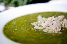 Creamy Kale and Rice Soup #vegan