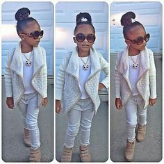 Adorable little girl fashion. Little Girl Outfits, Cute Outfits For Kids, Little Girl Fashion, Cute Little Girls, Little Girl Swag, Cute Kids Fashion, Toddler Fashion, Look Fashion, Child Fashion