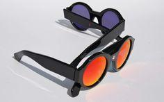Jossa sunglasses black diamond red mirror