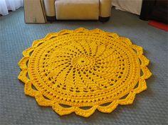 Giant Crochet Doily Rug - Handmade Circular Doily Style Floor Rug