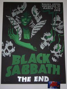 Becky Cloonan Black Sabbath Vancouver Poster S/N Artist Edition 2016