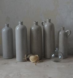 grey ceramic jars