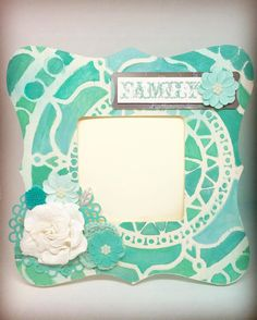 I just made this frame using my favorite colors of Aqua & teal. It's not yet added into my shop but is available & ready to ship. Comment below if you want it - it would make a great #mothersday #gift . #Abmcrafty #abmhappylife #abmlifeissweet #abmlifeiscolorful #darlingmovement #stationery #thehappynow #whereitsat #happymail #handmade #handmadecards #childhoodunplugged #etsyshop #etsyseller #cardmaking #momlife #mommylife #momoreneur #girlmom #instamoms #newmom #instakids #boymom