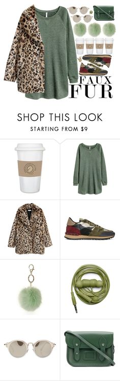 """/.natural chic./"" by semashamrr ❤ liked on Polyvore featuring WALL, H&M, Valentino, Dorothy Perkins, Urbanears, Miu Miu, The Cambridge Satchel Company and fauxfur"