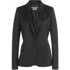Boutique Moschino Wool Blazer (€535) ❤ liked on Polyvore featuring outerwear, jackets and blazers