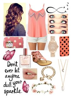 """""""Don't ever let anyone dull your sparkle"""" by youtube-crazy ❤ liked on Polyvore"""
