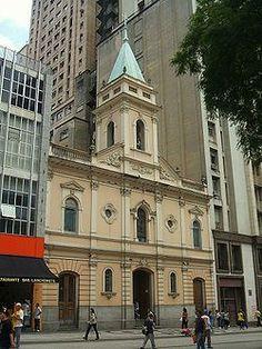Santos Sao Paulo Brazil  Igreja Santo Antônio - praça Patriarca - São Paulo - SP