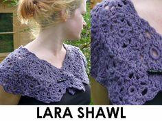 Lara Shawlette (PDF Crochet Pattern)