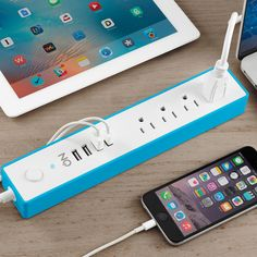 ON #SurgeProtector #PowerStrip with 4 Way Outlet + 4 #USBPorts for Smartphones, Tablets, Desk Lamps, Computers, and More Device