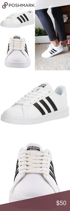 Adidas Women's Cloudfoam Advantage Neo - White Brand New✔ Adidas white and black adventage neo sneakers. In amazing condition with box  •Leather upper  •Comfortable textile lining  •cloudfoam MEMORY sockliner molds to the foot for superior step-in comfort  •cloudfoam midsole wedge for comfort and superior cushioning  ❌PRICE IS FIRM❌  ❌NO TRADES❌ adidas Shoes Sneakers