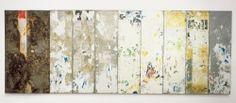 SENSE TÍTOL Sin título Hains, Raymond — 1998 Instalación Papel sobre metal 10 parts 300,5 x 80 x 4,5 cm c/u; 300,5 x 800 cm Colección MACBA. Fundación MACBA. Donación del artista 1532