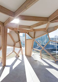 Sumika Pavilion   project by Tokyo Gas which invited Japanese architects Sou Fujimoto, Terunobu Fujimori, Taira Nishizawa, and Toyo Ito to design