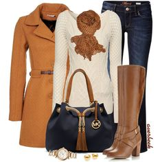 """""""Sweater and Jeans"""" by averbeek on Polyvore"""