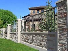 Fantastic Tricks Can Change Your Life: Fence Photography Fall chain link fence front yard.Brick Fence Lighting front fence and carport. Stone Fence, Brick Fence, Front Yard Fence, Dog Fence, Farm Fence, Metal Fence, Fence Gate, Fence Stain, Aluminum Fence