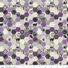 Deena Rutter - Happy Haunting - Hexagon in Purple