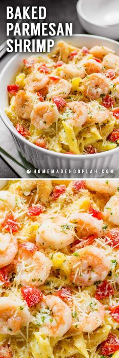 Lower Excess Fat Rooster Recipes That Basically Prime Baked Parmesan Shrimp Bring The Iconic Taste Of Olive Garden's Baked Parmesan Shrimp To The Comfort Of Your Own Home With This Spot-On Copycat Recipe. Baked Pasta Recipes, Fish Recipes, Seafood Recipes, Cooking Recipes, Healthy Recipes, Cooking Bacon, Baked Pasta Dishes, Seafood Casserole Recipes, Recipies