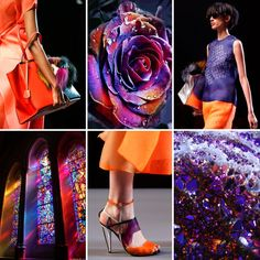 Violet&Orange by Fendi. S/S 2014.  #fashion #style