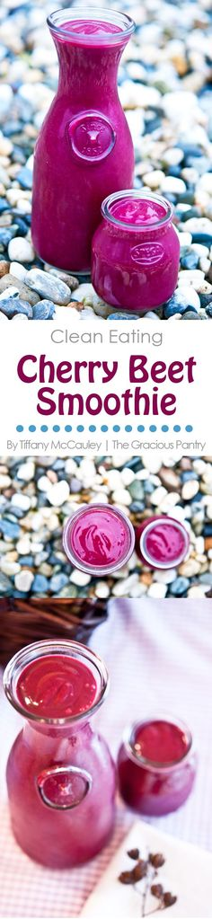 Clean Eating Recipes   Cherry Beet Smoothie   Smoothie Recipes   Healthy Smoothies