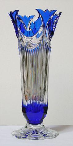 Caesar Crystal - Diadem Vase - Cobalt