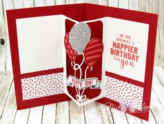 http://nicolejuliewilson.blogspot.com.au/ Balloon Adventures 40th Birthday card, real red, watermelon wonder, silver glimmer paper, sending love DSP, stitched framelits, balloon pop up thinlits dies. Brisbane onstage live www.facebook.com/NicoleWilsonStamp #stampinup #onstage2016 #brisbanelive