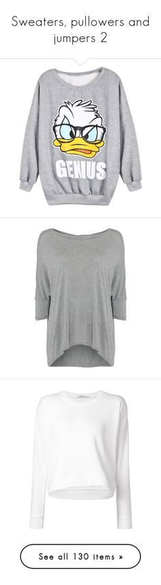 """""""Sweaters, pullowers and jumpers 2"""" by musicmelody1 on Polyvore featuring tops, hoodies, sweatshirts, shirts, sweaters, grey long sleeve shirt, grey top, gray sweatshirt, grey shirt and pattern long sleeve shirt"""