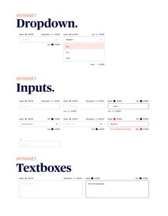 Intranet Style Guide on Behance Form Design Web, Login Page Design, Web Style Guide, Style Guides, Website Style Guide, Wireframe Design, Ui Ux Design, Ux Design Principles, News Website Design