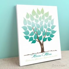 56 best Wedding Tree Guest Book Canvas images on Pinterest | Wedding ...
