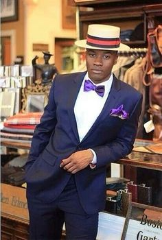 Vinage African Men Fashion, Mens Fashion, Sport Coat, Hats For Men, Dandy, Well Dressed, Gentleman, Captain Hat, Man Style