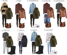 Travel Outfit for Europe: Winter