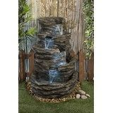 Create a tranquil and calming ambiance in your garden with this Rock Waterfall. The water feature is sure to create a striking effect in your garden with cascading water falling 4 levels and incorporated lighting.     Supplied with water pump and transformer       Product Specifications         Electric Water Source     Input:   110V or 220V     Output:   12V - 60Hz     Net Weight:   24.0 kg