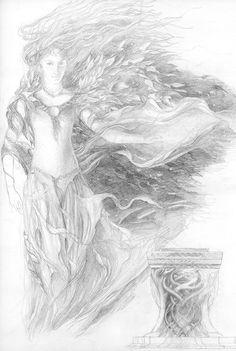 alan_lee_the lord of the rings_sketchbook_07_galadriel.jpg (1075×1600)