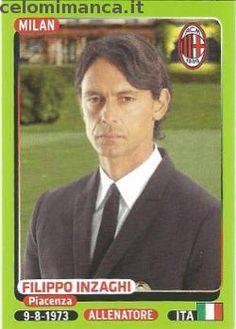 Calciatori 2014-2015: Fronte Figurina n. 294 Filippo Inzaghi