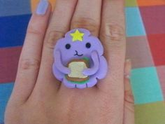 Cartoon Network's Adventure Time LSP Ring. by CCKJewellery on Etsy, £8.00