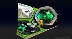 Futuristic FIFA exhibit. Like the design? We can build it TriadCreativeGroup.com