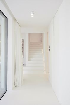 View the full picture gallery of Private Residence Interior Stairs, Home Interior Design, Interior Architecture, Hallway Inspiration, Home And Deco, Concrete Floors, Minimalist Home, Interior Lighting, My Dream Home