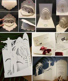 Convites criativos - As técnicas de recorte de papel transformam um material simples em grandes obras de arte! Que tal aplicar o estilo ao convite?