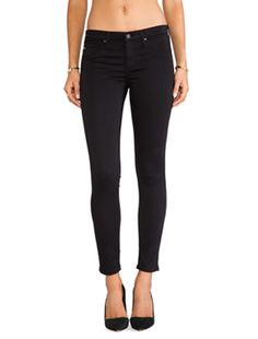 AG Adriano Goldschmied The Legging Ankle in Super Black | REVOLVE