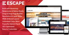 Escape is so clean and has a fully responsive wordpress theme for Corporate, Business, Portfolio and Blog. Featuring a very professional design, Easy to Customize, Extensive Admin Panel, Unlimited Skins… Escape has everything you'll want for your business website.