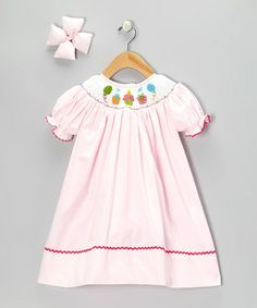 Take a look at this Light Pink Bishop Dress & Bow Clip - Infant, Toddler and Girls by Molly Pop Inc. on #zulily today!