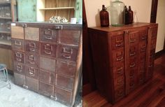 Chest of drawers - before & after! Chest Of Drawers, Filing Cabinet, Home Furniture, Storage, Home Decor, Purse Storage, Drawer Unit, Decoration Home, Dresser