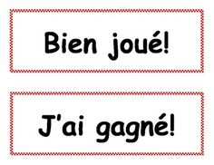 French game vocabulary!