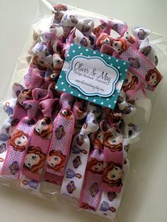 Sofia the First  BULK 30 pack Elastic Hair Ties Birthday Favors Giveaways Loot Bags Disney... AU $15