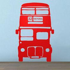 wall vinyl for Britain/Transport themed boys room